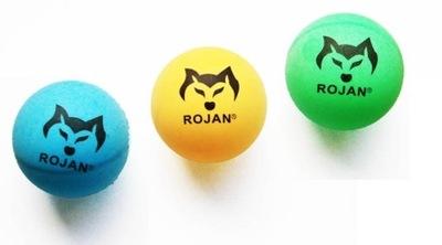 Piłeczki do tenisa stołowego, kolorowe 6szt