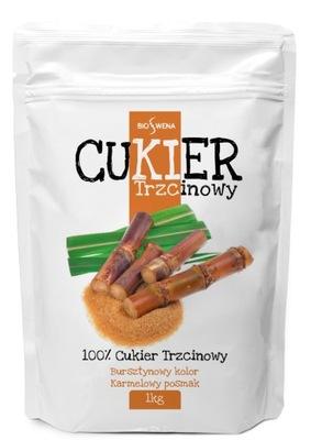 Cukier trzcinowy 1kg naturalny, wysoka jakość