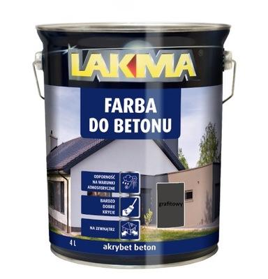 Lakma AKRYBET бетон Краска ??? бетона -темно-серый- 4 L