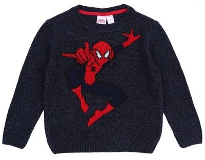 Ciepły sweterek SPIDERMAN 4-5 lat 110 cm