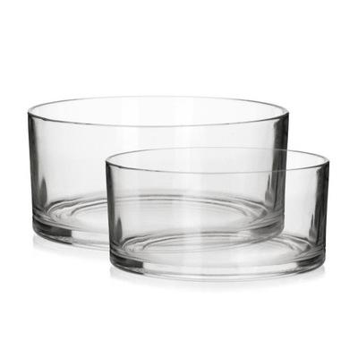 Salaterki szklane okrągłe 17 cm 20 cm komplet 2szt