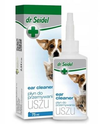 Dr Seidel Płyn do Czyszczenia Uszu Pies Kot 75 ml