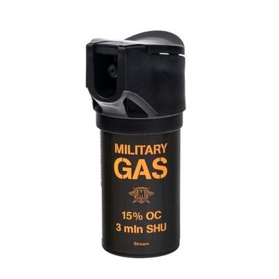 Gaz pieprzowy Military Gas 50 ml strumień 15% OC