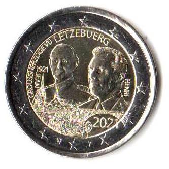 2 euro okol. Luksemburg 2021 Urodziny - zwykła