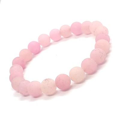 BRANSOLETKA Kamienie Naturalne Jadeit Różowy