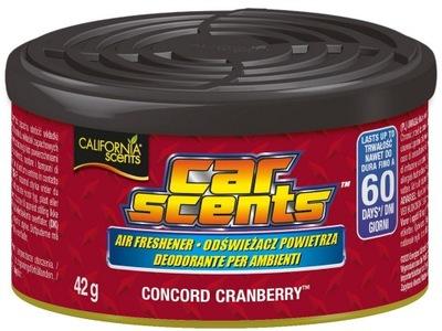 CALIFORNIA CAR SCENTS zapach CONCORD CRANBERRY