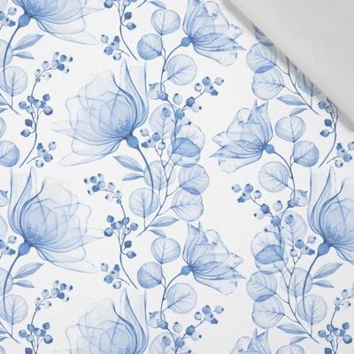 KWIATY wz. 4 (classic blue) - tkanina bawełniana