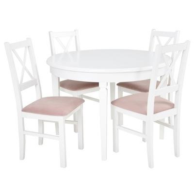 ?????????? круглый стол и 4 стулья белое розовое