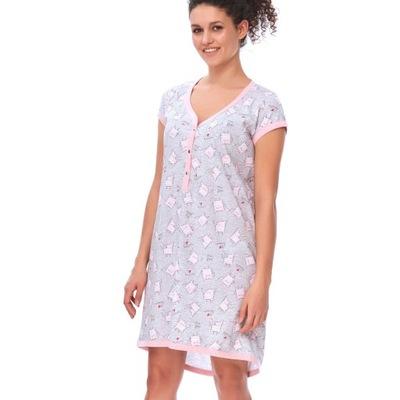 Koszula nocna dla kobiet w ciąży M 9620 LIGHT PINK