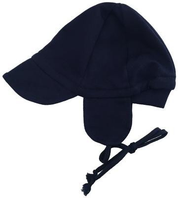 CZAPECZKA wiązana pilotka czapka z daszkiem 62 cm