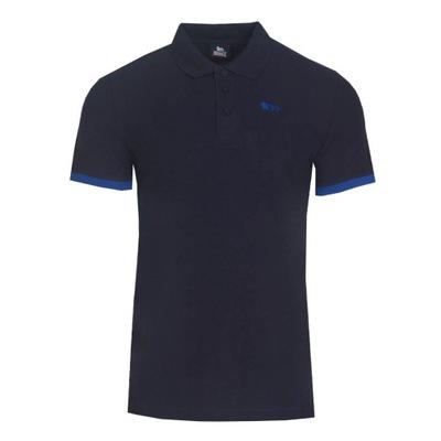 LONSDALE Koszulka Polo 100% Bawełna 21501 GRANAT M