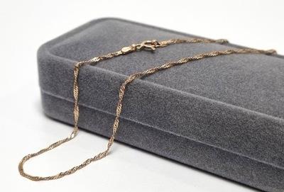 Śliczny złoty łańcuszek Pr.585 0.87g 14K P
