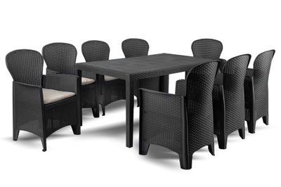 комплект Дачной Мебели PRINCE Folia8 Антрацит EG