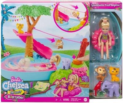 Barbie Chelsea Wakacyjna przygoda w basenie GTM85
