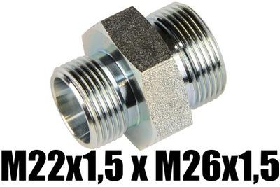 Nypel Hydrauliczny M22x1,5 x M26x1,5 łącznikProsty