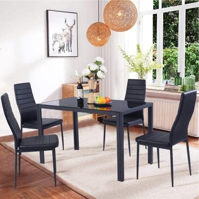 Komplet stół szklany 100x60cm + 4x krzeslo krzesla
