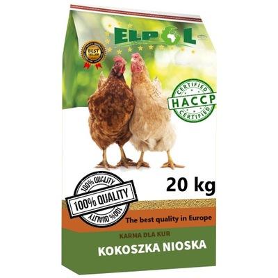Pasza dla kur nioska BEZ GMO 20kg ziarno karma