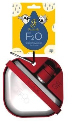 Ferribiella Miska podróżna z butelką F20 czerwona