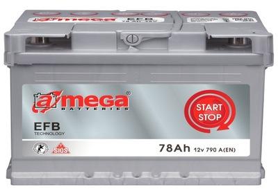 АККУМУЛЯТОР AMEGA EFB START СТОП 12V 78AH 790A