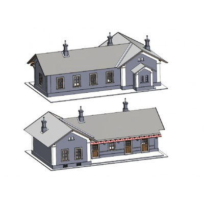 TT - Dworzec kolejowy budynek model 1:120
