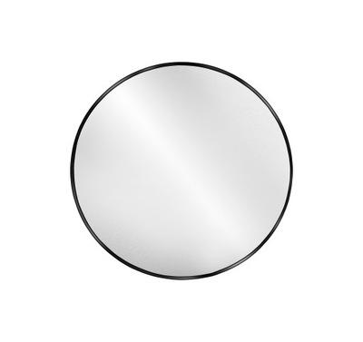 Okrúhle zrkadlo / kruh v ráme čierne Optiwhite 100
