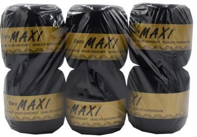 6x Kordonek Bora MAXI kolor 9999 CZARNY