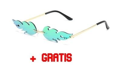 Szybkie okulary płomienie wixapol rave + GRATIS