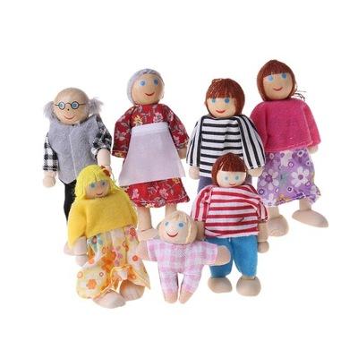 Lalki rodzinne - 7 osób