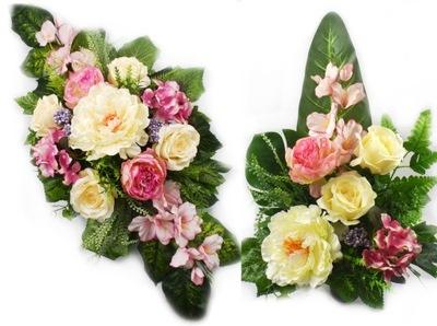 искусственные цветы декор на могиле комплект на кладбище