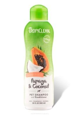 TROPICLEAN Папайя &Coconut шампунь 2in1 355ml