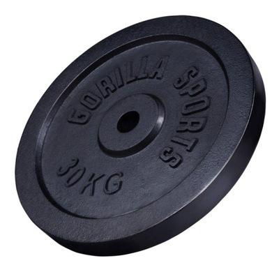 Liatinová záťaž 30kg čierna 30mm GORILLA SPORTS
