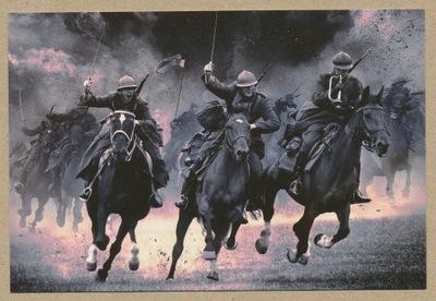 ЛОМЯНКИ реконструкция боя лошадей кавалерия 2015