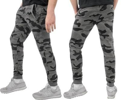 Spodnie męskie DRESY Sportowe moro miękkie XXXL
