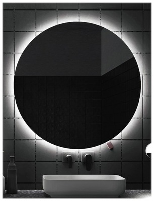 зеркало для ванной комнаты с подсветкой LED , 90 см Круглые