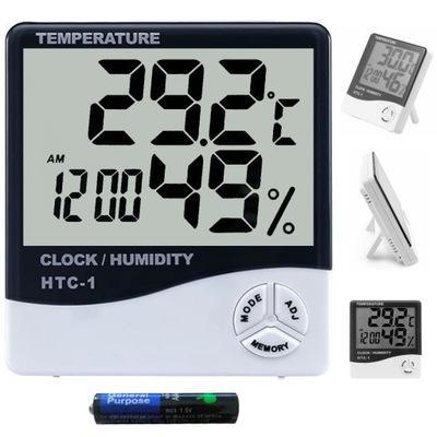 CZYTELNY ZEGAR LCD budzik termometr higrometr 2w1