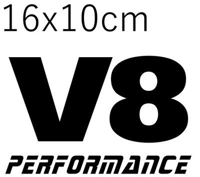 НАКЛЕЙКА НА АВТОМОБИЛЬ V8 PERFORMANCE 16X10CM