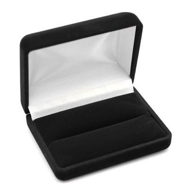 Czarne pudełko na spinki do mankietów lub krawata