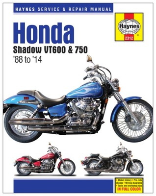HONDA VT600C SHADOW (1988-2007) ИНСТРУКЦИЯ РЕМОНТА