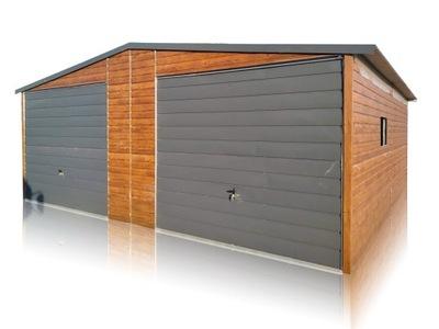Garaż blaszany drewnopodobny garaże blaszaki 7x7