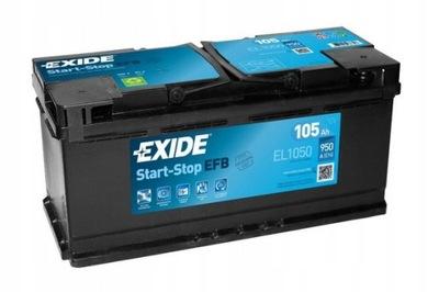 EXIDE EL1050 EFB 105Ah 950A START-STOP