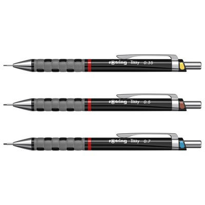 Ołówki automatyczne Rotring TIKKY RD BLK CC