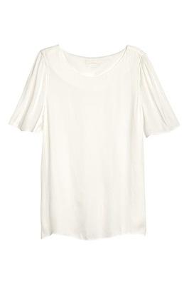 H&M Bluzka TKANINOWA TOP 46 BIAŁA koszula