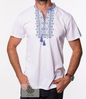 koszulka polówka zakopiańska haftowana 3XL niebies