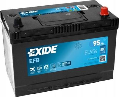 EXIDE EFB EL954 95Ah 800A JAPAN P+ START-STOP