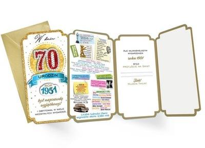 Na 70 urodziny Kartka dla urodzonych w 1951r PM175