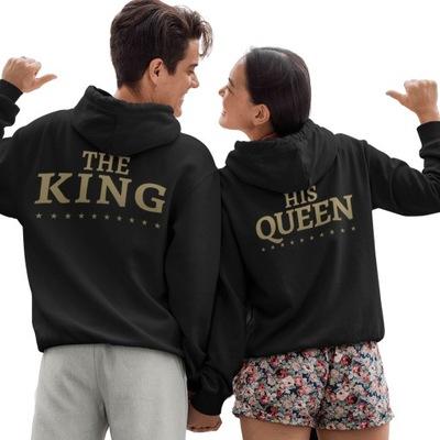 Zestaw Bluzy z Kapturem Dla Par Prezent King Queen