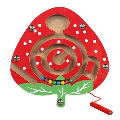 Labirynt magnetyczny na kuleczki gra zabawka żaba