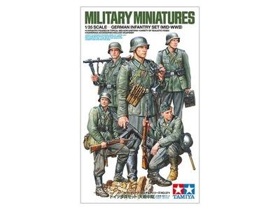 Tamiya 35371 Германий Infantry Set (Mid-ВОВ) 1 :35