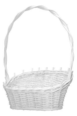 Biały Kosz koszyk wiklinowy prezentowy upominkowy
