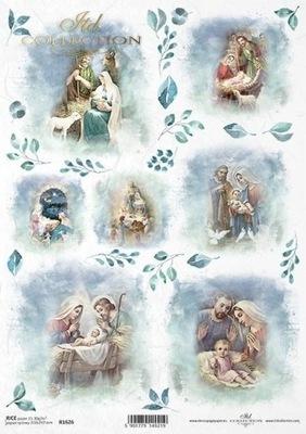 Papier ryżowy do decoupage A4 Święta Rodzina